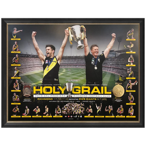 Richmond 2019 Afl Premiers Holy Grail Official Afl Print Framed - 3895