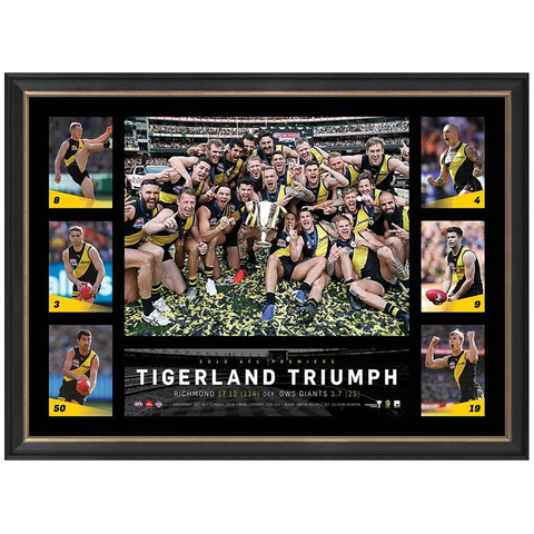 "Richmond 2019 Afl Premiers Official Tribute Frame ""Tigerland Triumph"" - 3810"