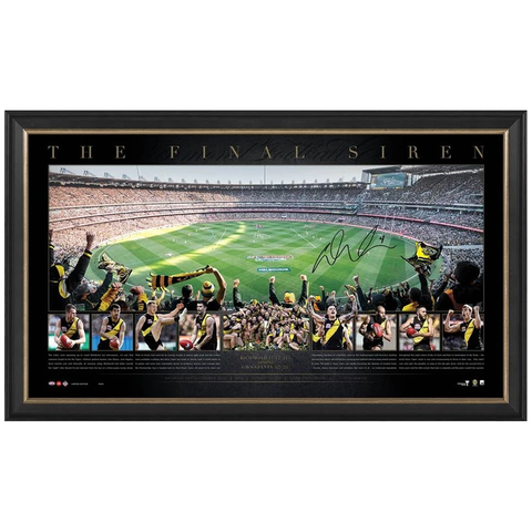 "Richmond 2019 Afl Premiers Signed Dustin Martin Panoramic Frame ""the Final Siren"" - 3808"