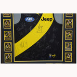 Richmond Team Signed 2020 Official Jumper Framed with Premiership Cards - 4594