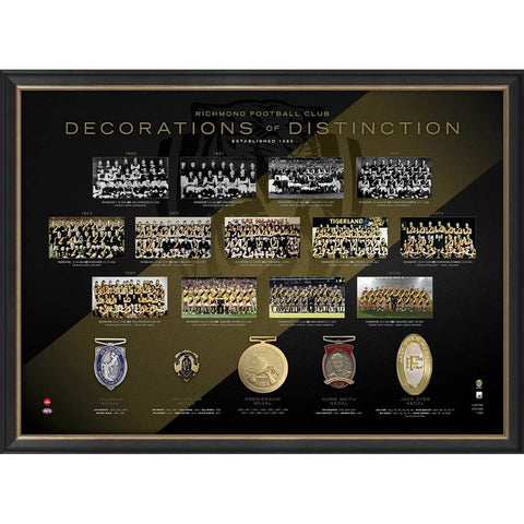 Richmond Football Club Decorations of Distinction 2020 AFL Premiers Edition Frame - 4592