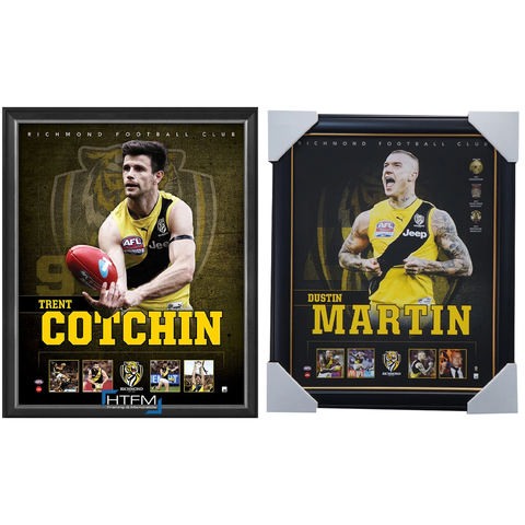 Richmond Package Official Licensed AFL Prints Framed Cotchin Martin - 4450