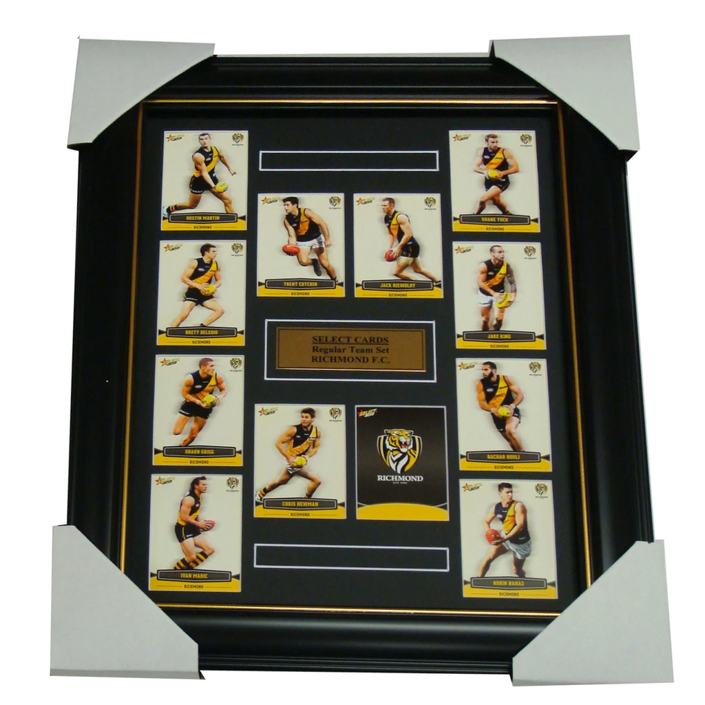 Richmond Tigers 2013 Select Cards Set Framed includes Cotchin, Martin etc - 1191