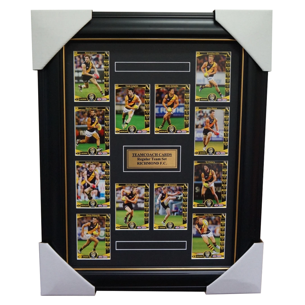 Richmond Tigers 2014 Limited Edition Teamcoach Cards Set Framed Cotchin Martin - 1779