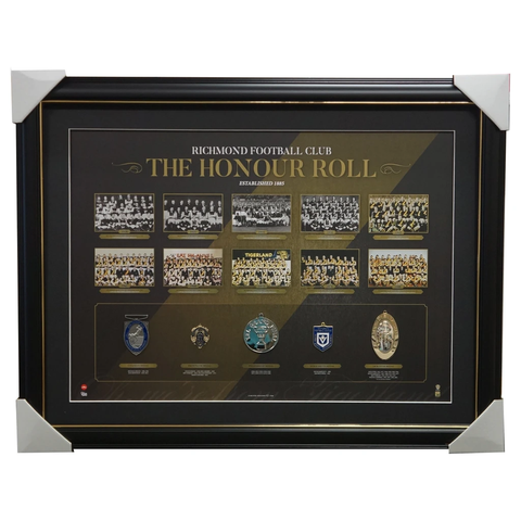 Richmond Vfl/afl Premiers Honour Roll With Medallions Print Framed 1980 - 3013