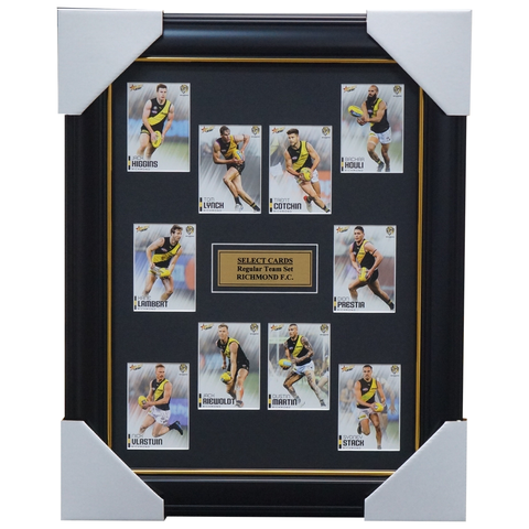 Richmond 2020 AFL Select Team Card Set Framed Dustin Martin Trent Cotchin Riewoldt  - 4012