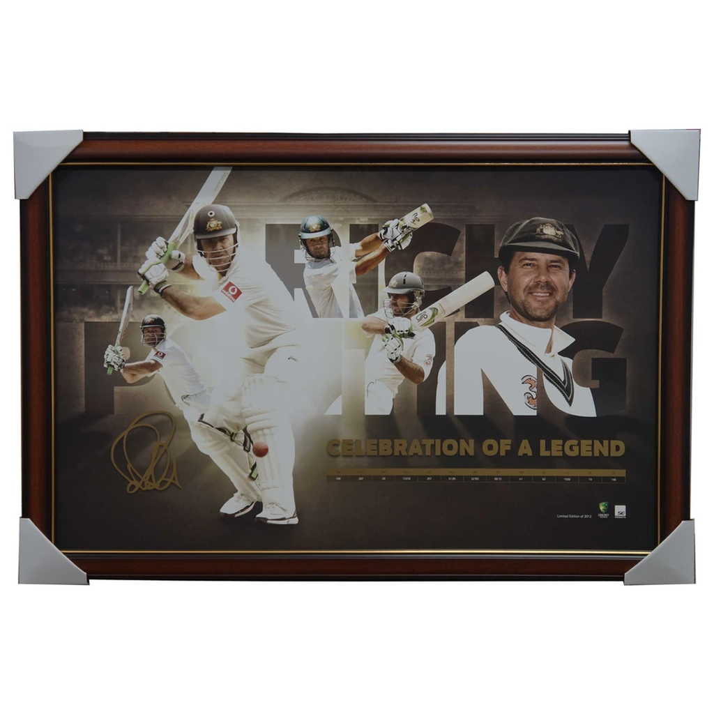 Ricky Ponting Celebration of a Legend Signed Facsimile Print Framed - 3300