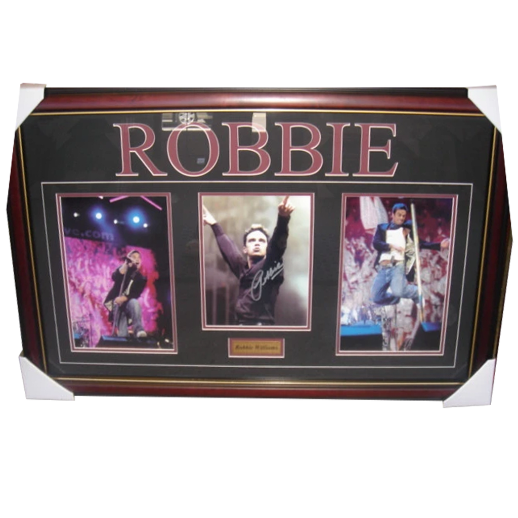 Robbie Williams Signed 3 Photo Collage Framed - 2804