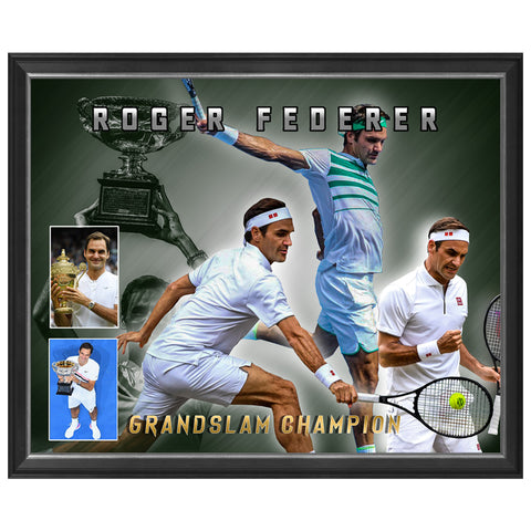 Roger Federer Tennis Grand Slam Champion Print Framed - 4365