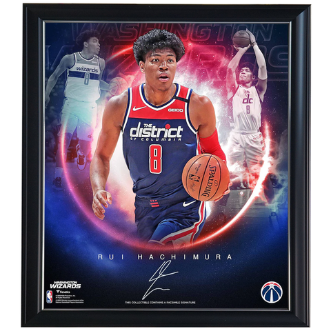 Rui Hachimura Washington Wizards Facsimile Signature Official NBA Print Framed - 4431