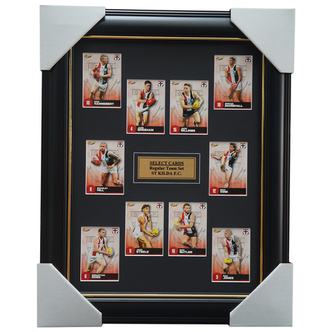 St Kilda 2021 AFL Select Team Card Set Framed Geary Billings Gresham  - 4635