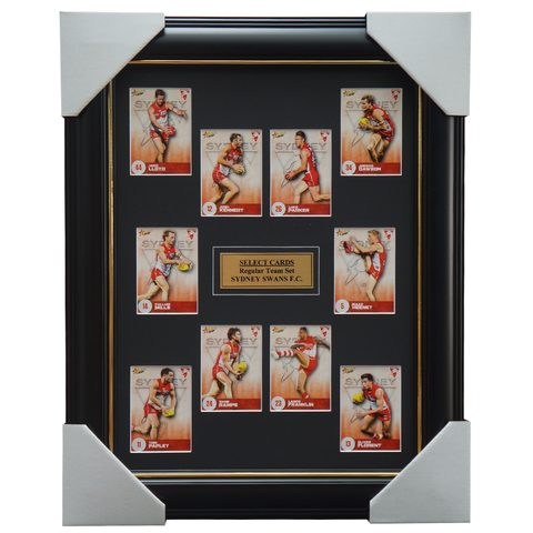 Sydney Swans 2021 AFL Select Team Card Set Framed Heeney Franklin Kennedy  - 4638