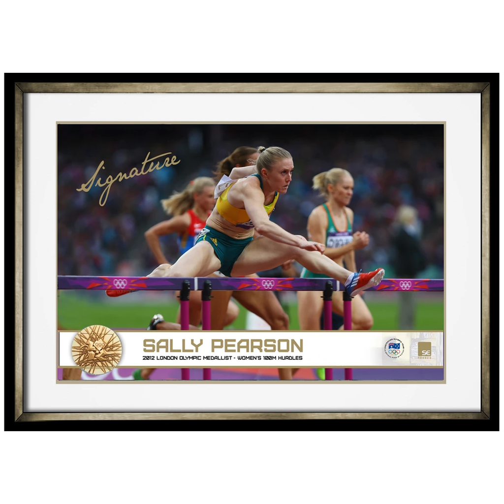 Sally Pearson 2012 Olympic Hurdle Gold Medallist Signed Photo Framed - 4028