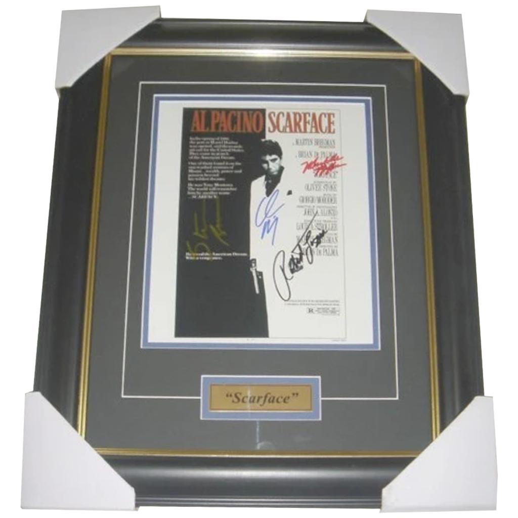 Scarface Cast Hand Multi-signed Photo Framed Al Pacino - 2796