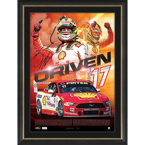 Scott Mclaughlin Signed Shell V-power Racing Official Print Framed - 4522