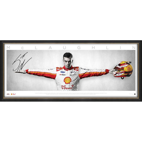 Scott McLaughlin Signed Wings V-Shell Power Official Print Framed - 4524