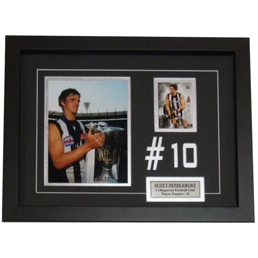 Scott Pendlebury Collingwood Signed Card Collage Framed - 4031