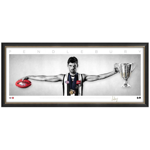 Scott Pendlebury Signed Collingwood Mini Wings Official AFL Print Framed NEW - 3744