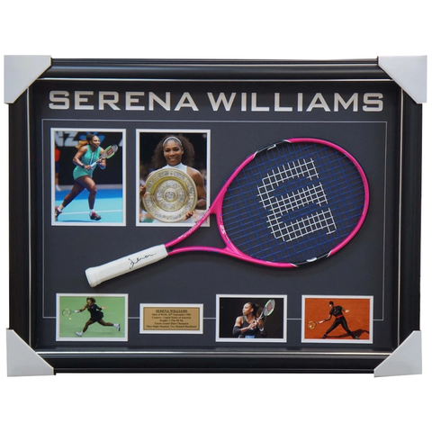 Serena Williams Grand Slam Champion Signed Tennis Racket with Photos Framed + COA - 3606