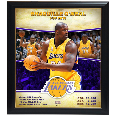 Shaquille O'neal Los Angeles Lakers Player Collage Official Nba Print Framed - 4350