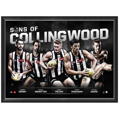 Sons of Collingwood Official Afl Print Framed Pendlebury Sidebottom - 3454