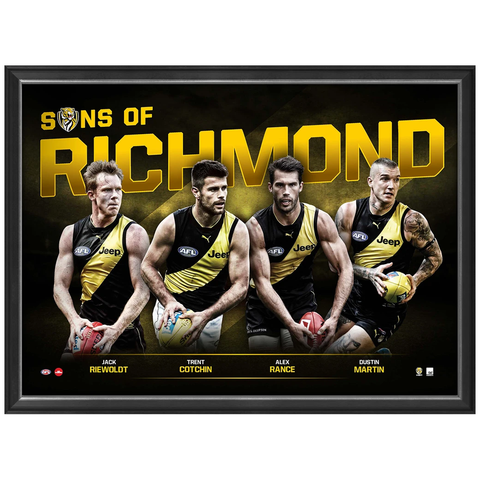 Sons of Richmond L/e Official Afl Print Framed Martin Cotchin Rance Riewoldt - 3457