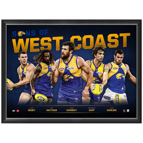 Sons of West Coast Eagles Limited Edition Official Afl Print Framed Kennedy - 3448
