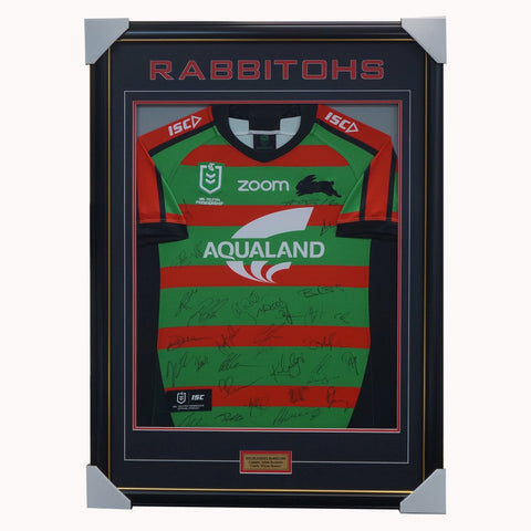 South Sydney Rabbitohs 2020 Signed Official NRL Team Jersey Framed - 4481