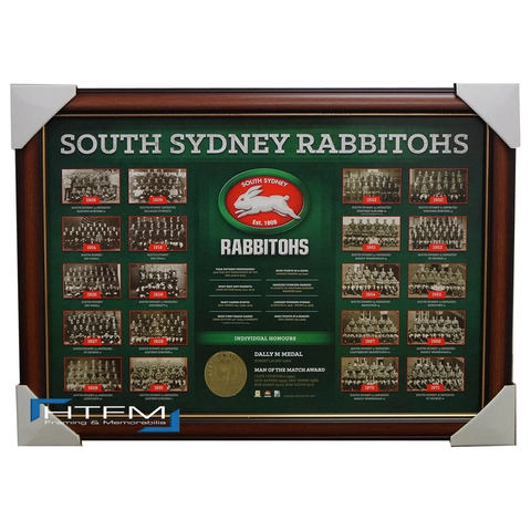 South Sydney Rabbitohs The Historical Series Montage Print Framed OFFICIAL NRL - 1840