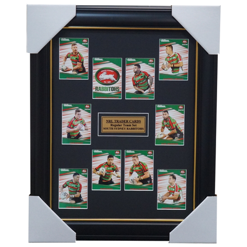 2020 NRL Traders Cards South Sydney Rabbitohs Team Set Framed Burgess Gagai Reynolds  - 4043