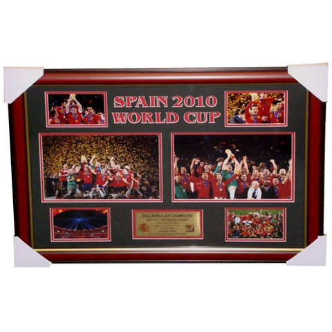 Spain 2010 World Cup Photo Collage Framed with Plaque - 2786