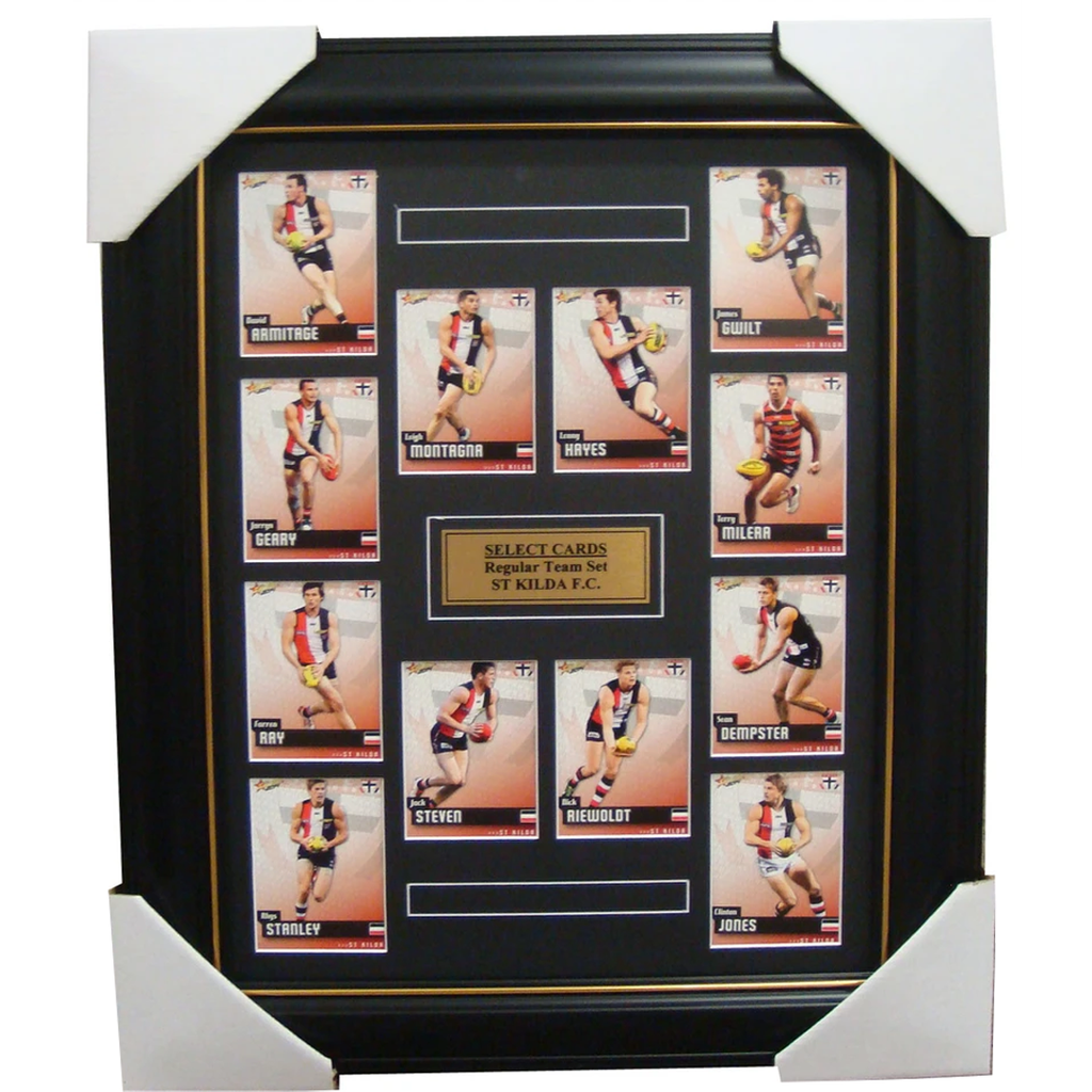 St Kilda 2014 Limited Edition Select Cards Set Framed - Riewoldt Hayes Steven - 1713