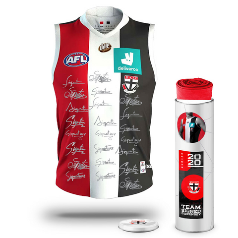St Kilda Football Club 2020 AFL Official Team Signed Guernsey - 4142