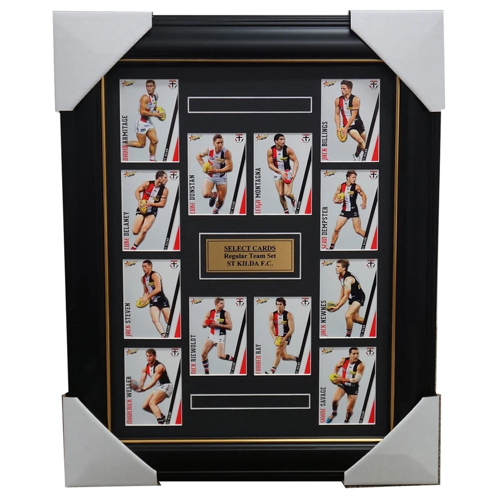 St Kilda Saints 2015 Select Card Team Set Framed Nick Riewoldt Leigh Montagna - 1026