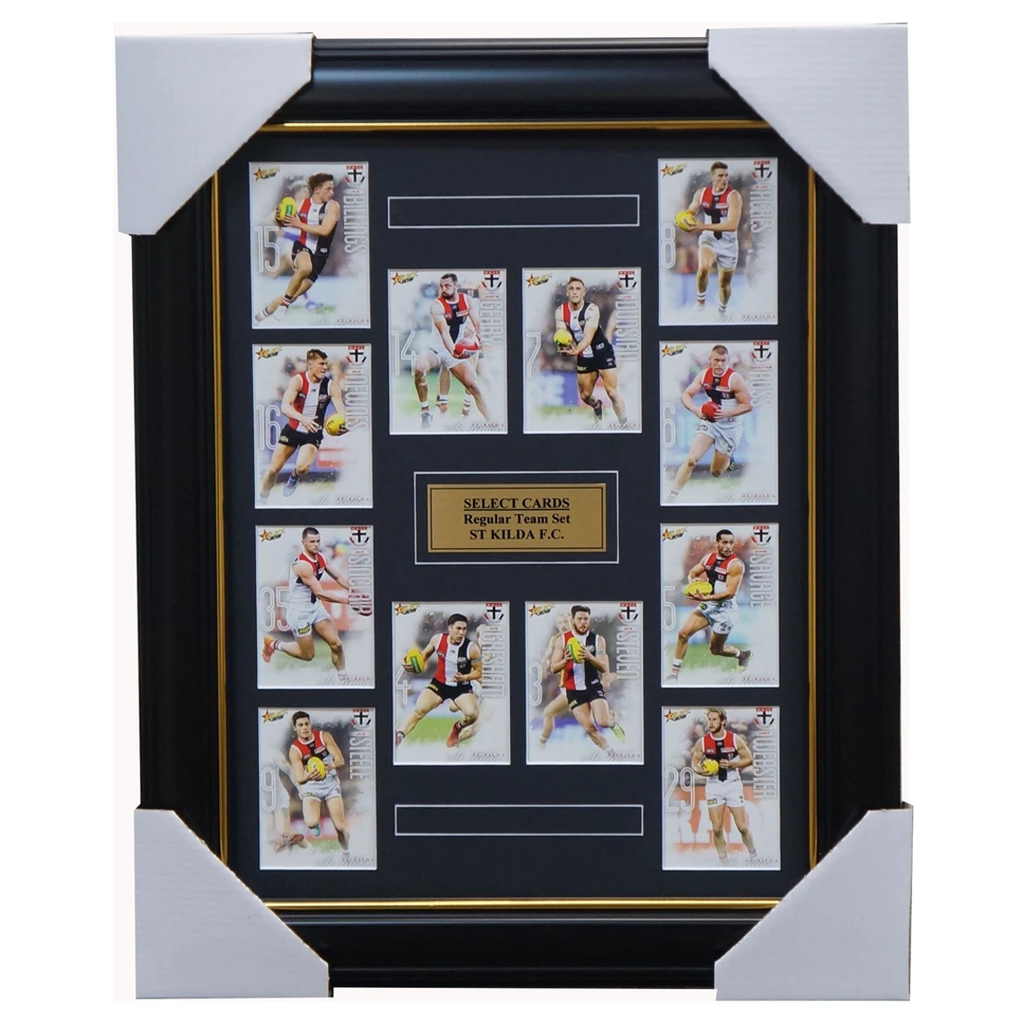 St Kilda Saints 2019 Select Card Team Set Framed Ross Steven Geary Gresham - 3620
