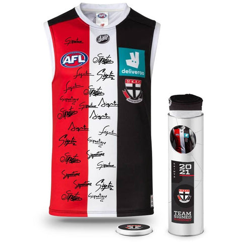 St Kilda Saints Football Club 2021 AFL Official Team Signed Guernsey - 4706