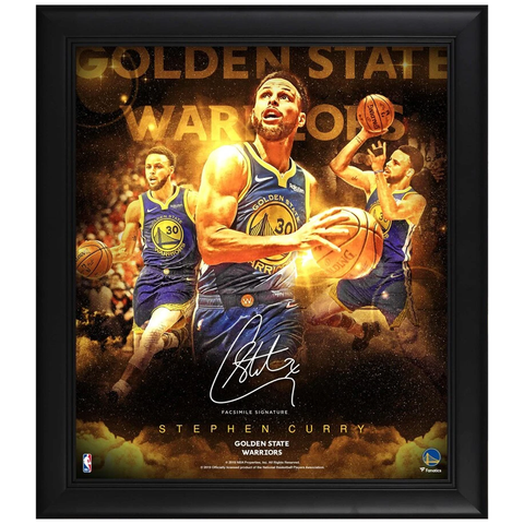 Stephen Curry Golden State Warriors Facsimile Signed Official Nba Print Framed - 3955