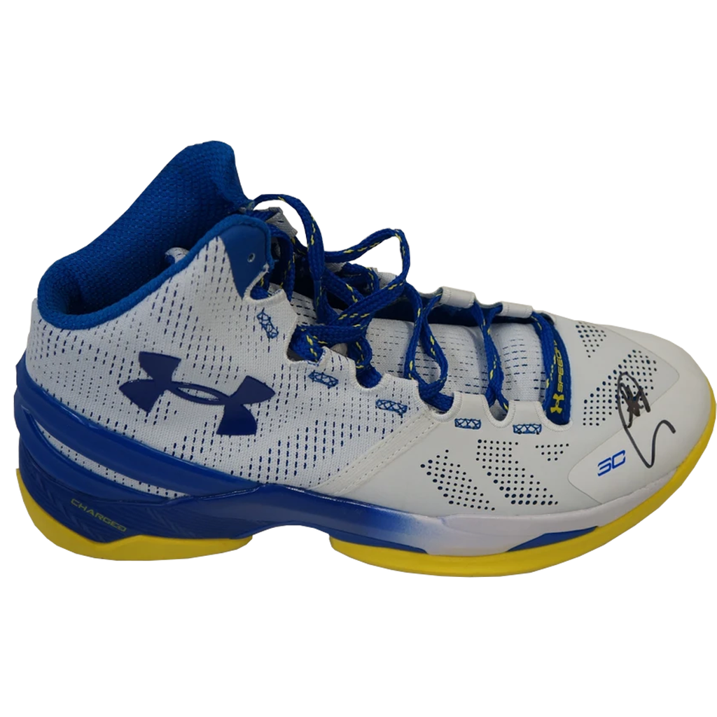 Steph Curry Signed Golden State Warriors Under Armour Basketball Shoe 2018 Nba Champions - 3584