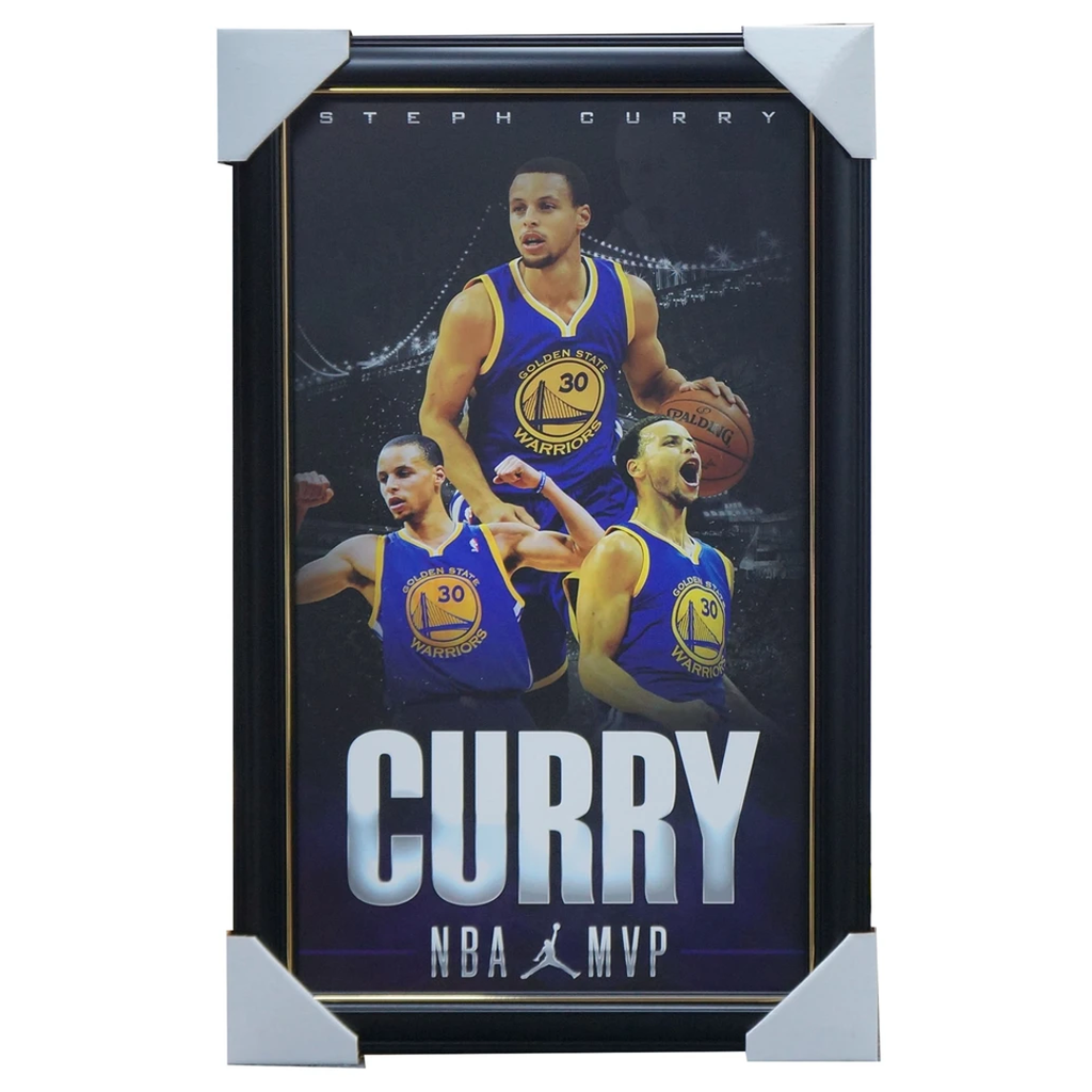 Stephen Curry Golden State Warriors Print Framed - Nba Champions $249 Rrp - 3469