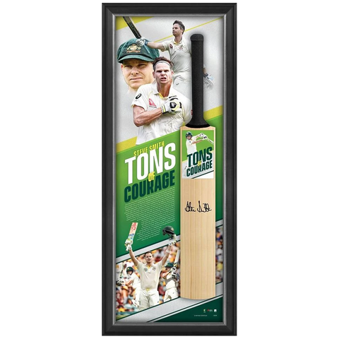Steve Smith Signed Tons of Courage Official ACB Full Size Bat Box Framed - 3863