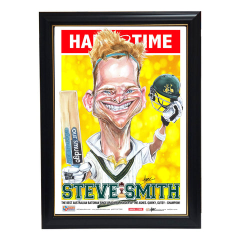 Steve Smith Australia Ashes Heroes 2019 Harv Time L/e Print Framed - 3779