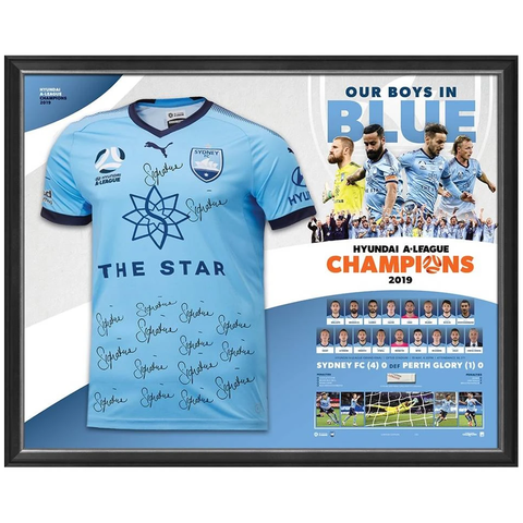 Sydney Fc Hyundai a-league 2019 Champions Official Team Signed Jersey - 3932