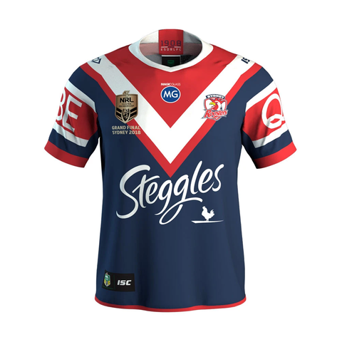 Sydney Roosters 2018 Premiers Official NRL ISC Jersey Size (L) Large - 3546 In Stock