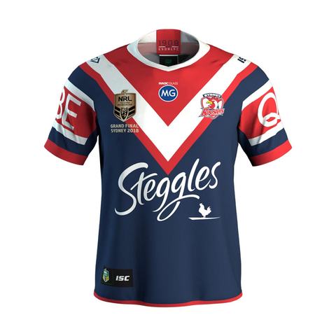 Sydney Roosters 2018 Premiers Official NRL ISC Jersey Size (XL) Extra-Large - 3547 In Stock