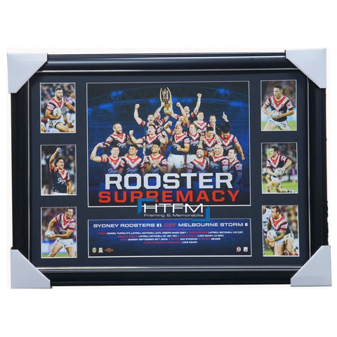 Sydney Roosters 2018 Premiers Official Roosters Supremacy Tribute Print Framed - 3512