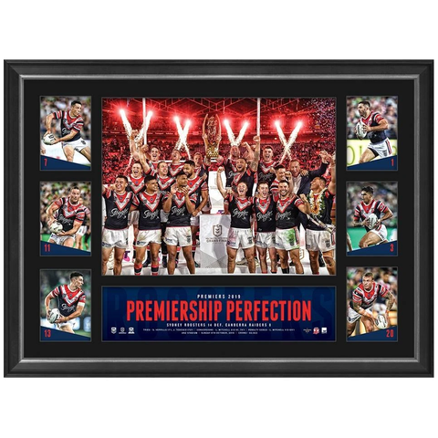 Sydney Roosters 2019 Nrl Premiers Official Deluxe Tribute Frame - 3839