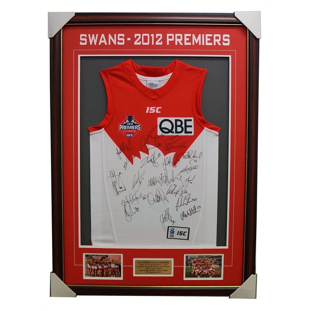 Sydney Swans 2012 Premiers Limited Edition Signed Jumper Framed - 1835