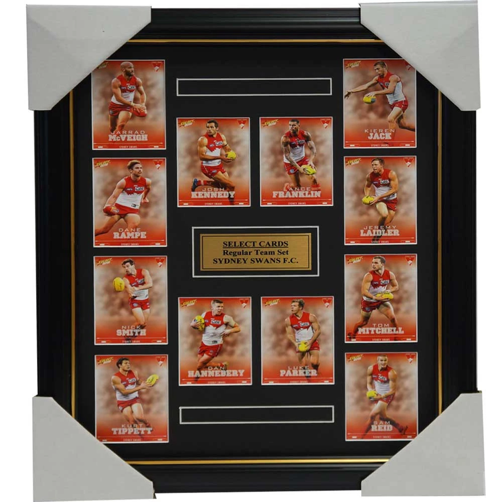 Sydney Swans 2016 Select Card Team Set Framed Lance Franklin Kennedy Hannebery - 2647