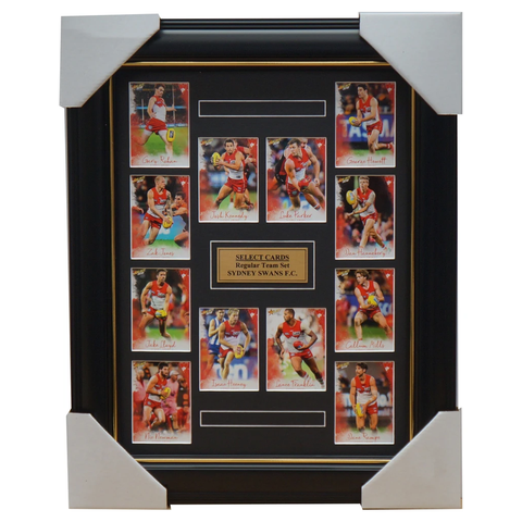 Sydney Swans 2018 Select Card Team Set Framed Josh Kennedy Buddy Franklin Jack - 3367