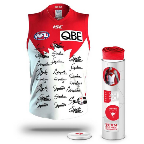 Sydney Swans Football Club 2020 AFL Official Team Signed Guernsey - 4143